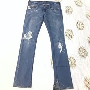 Destroyed, Raw Hem Hollister Jeans